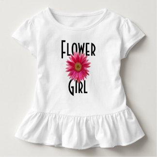 Camiseta Infantil Casamento cor-de-rosa da margarida do Gerbera do