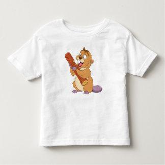 Camiseta Infantil Castor feliz