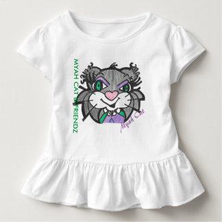 Camiseta Infantil CAT & FRIENDZ de MYAH que caracterizam o T do