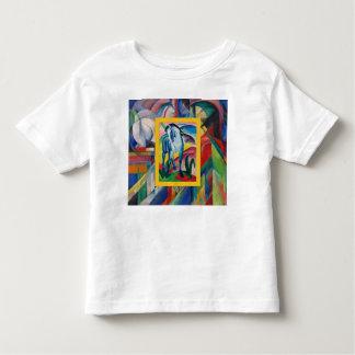 Camiseta Infantil Cavalo azul mim por Franz Marc