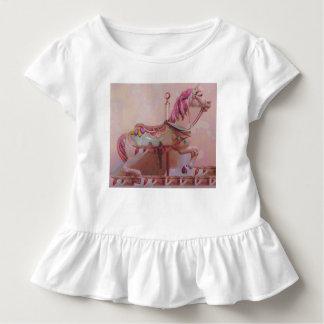 Camiseta Infantil Cavalo cor-de-rosa do carrossel
