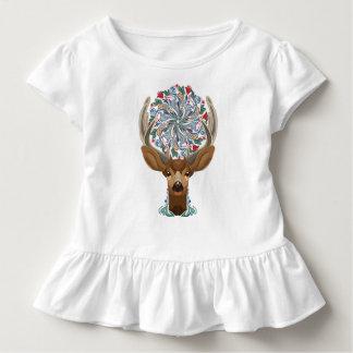 Camiseta Infantil Cervos bonitos mágicos da floresta com símbolo do