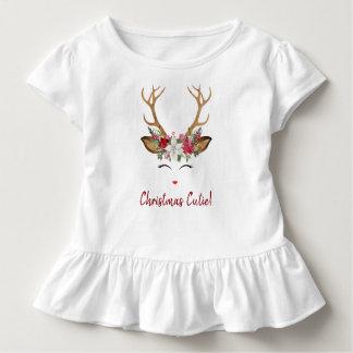 Camiseta Infantil Cervos de Cutie do Natal