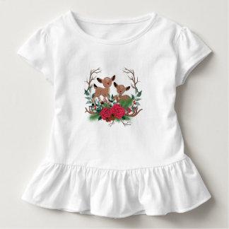 Camiseta Infantil Cervos pequenos com ilustração tirada mão dos