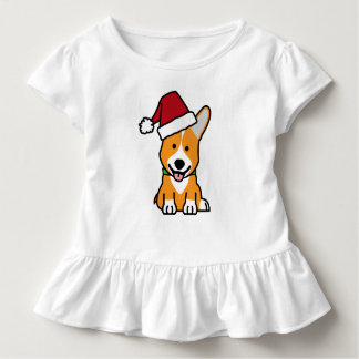 Camiseta Infantil Chapéu do papai noel do Natal de Galês do Pembroke