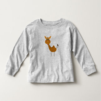 Camiseta Infantil Cinza do t-shirt da criança com camelo Brown