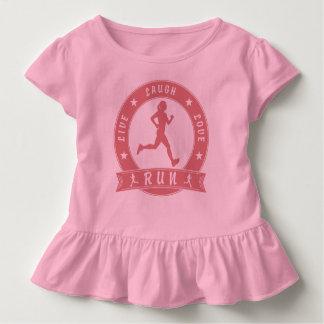 Camiseta Infantil Círculo fêmea FUNCIONADO do riso amor vivo (rosa)