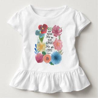 Camiseta Infantil Citações ferozes de Shakespeare com flores da