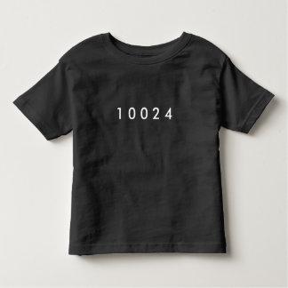 Camiseta Infantil Código postal: Lado oeste superior