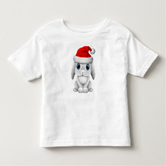 Camiseta Infantil Coelho branco do bebê que veste um chapéu do papai