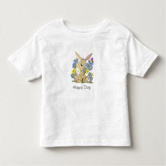 Camiseta Infantil Coelho dos desenhos animados no remendo da flor