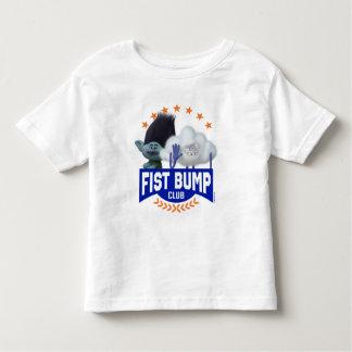 Camiseta Infantil Colisão do punho dos troll |