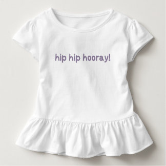 Camiseta Infantil Consciência anca da displasia do quadril Hooray