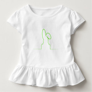 Camiseta Infantil Contorno de uma luz da lebre - verde