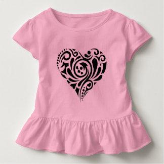 Camiseta Infantil Coração abstrato