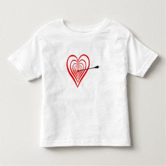 Camiseta Infantil Coração alvo com seta