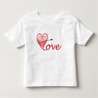 Camiseta Infantil Coração amor alvo com seta