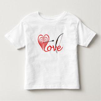 Camiseta Infantil Coração amor alvo com seta e arco