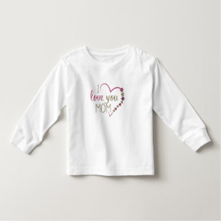 Camiseta Infantil Coração do dia das mães da mamã do amor