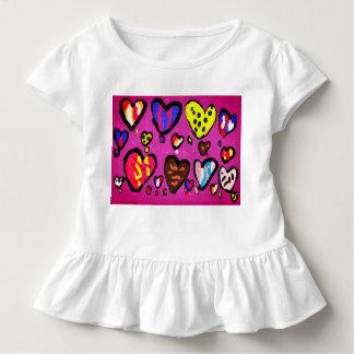 Camiseta Infantil coração do sorvete