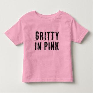 Camiseta Infantil Corajoso no rosa - rosa fino do t-shirt do jérsei