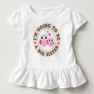 Camiseta Infantil Coruja cor-de-rosa pequena bonito Im que vão ser
