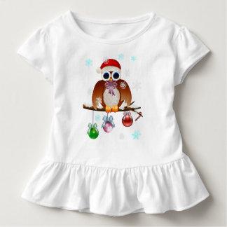 Camiseta Infantil Coruja do Feliz Natal
