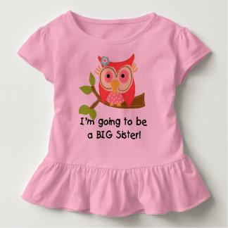 Camiseta Infantil Coruja que vai ser uma irmã