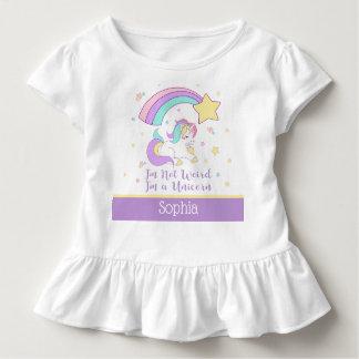 Camiseta Infantil Costume bonito unicórnio mágico personalizado do