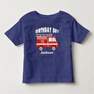 Camiseta Infantil Costume do menino do aniversário do carro de