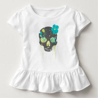 Camiseta Infantil Crânio do girlie das meninas