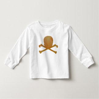 Camiseta Infantil Crânio e ossos