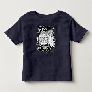 Camiseta Infantil Criança preto e branco do t-shirt do casal do