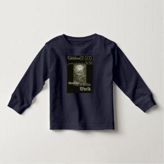 Camiseta Infantil Crianças do t-shirt longo da luva da criança do