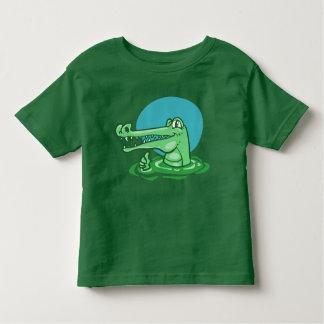 Camiseta Infantil crocodilo engraçado desenhos animados aprovados