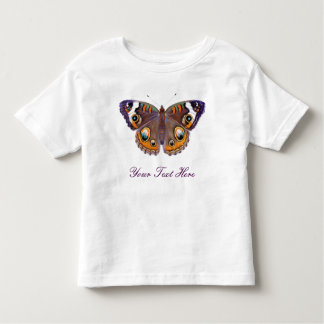 Camiseta Infantil Da borboleta comum do Buckeye do azul pintura