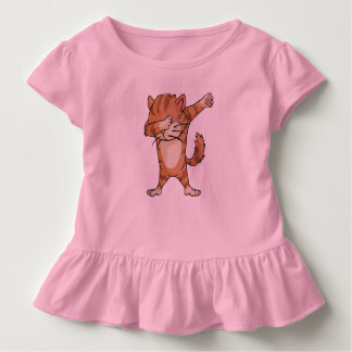 Camiseta Infantil Dança bonito de Dabber do gato da solha