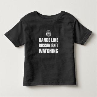 Camiseta Infantil Dança como Rússia que não olha