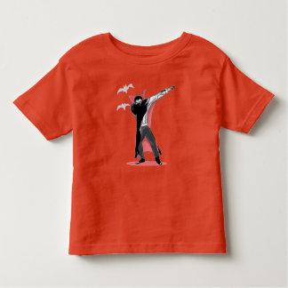 Camiseta Infantil dança de toque ligeiro da solha do Dia das Bruxas