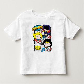 Camiseta Infantil Dança dos heróis de Chibi