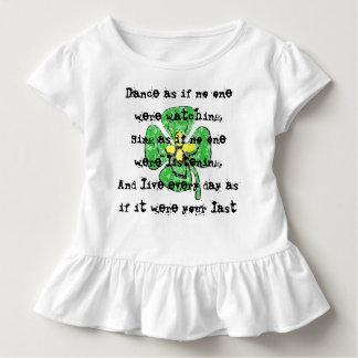Camiseta Infantil Dance como se ninguém estava olhando