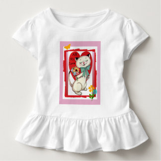 """Camiseta Infantil De """"Plissado-T retro da criança dos namorados do"""