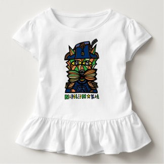 """Camiseta Infantil De """"T do plissado da criança Napoleon Kat"""""""