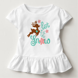 Camiseta Infantil Deixais lhe para nevar - design do Natal do