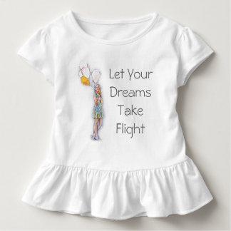 Camiseta Infantil Deixe seus sonhos tomar o T do vôo