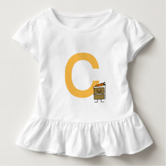 Camiseta Infantil Dentes do coelho da fatia do bolo de cenoura que