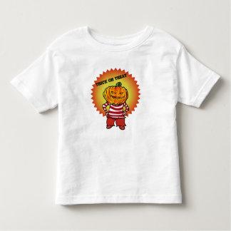 Camiseta Infantil desenhos animados da cabeça da abóbora do Dia das