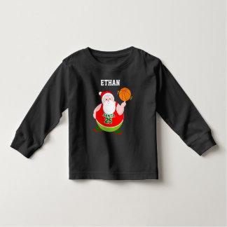 Camiseta Infantil Desenhos animados do divertimento de Papai Noel