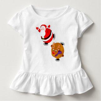 Camiseta Infantil Desenhos animados do divertimento do patinagem no