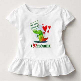 Camiseta Infantil desenhos animados engraçados do crocodilo doce eu